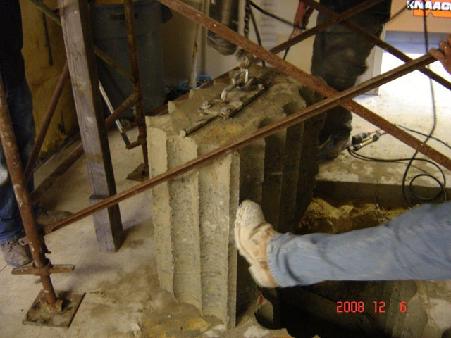 how to break concrete by hand